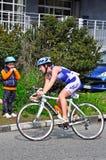 12ème édition du trophée de la ville de Turin du triathlon Photos libres de droits
