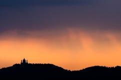 Turin, Basilica of Superga at sunrise royalty free stock images