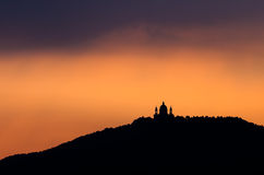 Turin, Basilica of Superga at sunrise stock image