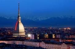 Turin bis zum Nacht stockfotografie