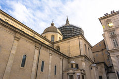 Turin Cathedral and the Chapel of the Holy Shroud Royalty Free Stock Images