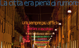 Turin Christmas lights 2010 Royalty Free Stock Photos