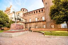 Turin city in Italy. Madama castle in the old city center of Turin in Piedmont region in Italy stock images