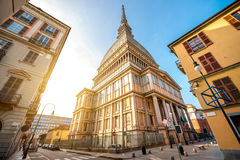 Turin city in Italy. Mole Antonelliana museum building, the symbol of Turin city in Piedmont region in Italy royalty free stock photos
