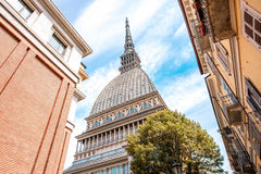 Turin city in Italy. Mole Antonelliana museum building, the symbol of Turin city in Piedmont region in Italy stock image