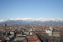 Turin city in summer Royalty Free Stock Photography