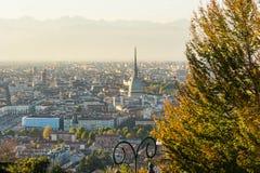 Turin de cima no outono Imagem de Stock Royalty Free
