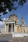 Turin die Basilika von Superga lizenzfreie stockfotos