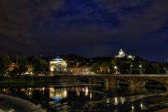 Turin em Noite Imagem de Stock Royalty Free