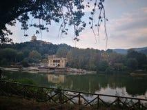 Turin-Fluss PO lizenzfreie stockfotos