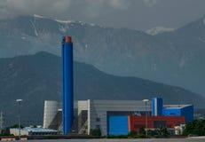 Turin, Gerbido, Piedmont Itália 27 de maio de 2018 A planta da desperdício-à-energia do GRUPO da empresa TRM-IREN Fotos de Stock Royalty Free