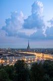 Turin hög definitionpanorama med vågbrytaren Antonelliana Fotografering för Bildbyråer