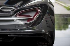 TURIN, ITÁLIA - 9 de junho de 2016 _A Quattroruote & IED Torino_Concept Car_Syrma na exposição na feira automóvel do ar livre de  Imagem de Stock Royalty Free