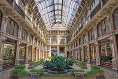 TURIN, ITÁLIA - 14 DE MARÇO DE 2017: O corredor interno da galeria Subalpina Imagem de Stock Royalty Free