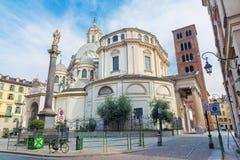 TURIN, ITÁLIA - 14 DE MARÇO DE 2017: O della barroco Consolata de Santuario da igreja Fotos de Stock Royalty Free