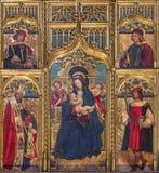 TURIN, ITÁLIA - 13 DE MARÇO DE 2017: A pintura de Madonna de nutrição no domo no altar por Defendente Ferrari 1511 - 1535 Imagem de Stock Royalty Free
