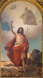 TURIN, ITÁLIA - 13 DE MARÇO DE 2017: A pintura de St John o batista no domo por Rodolfo Morgari Foto de Stock