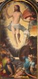 TURIN, ITÁLIA - 13 DE MARÇO DE 2017: A pintura Resurrected Jesus em Cattedrale di San Giovanni Battista Fotos de Stock