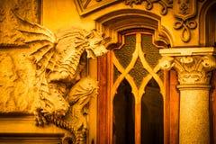 TURIN, ITÁLIA - dragão na fachada de Victory Palace Imagens de Stock Royalty Free