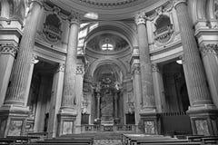 TURIN, ITALIE - 14 MARS 2017 : L'intérieur de l'église Basilica di Superga Image libre de droits