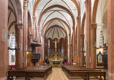 TURIN, ITALIE - 14 MARS 2017 : La nef de l'église Chiesa di San Domenico Photo stock