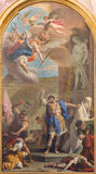 TURIN, ITALIE - 14 MARS 2017 : La peinture de Sanit Maurice dans l'église Basilica di Suprega par Sebastiano Ricci da Belluno Photos stock