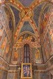 TURIN, ITALIE - 14 MARS 2017 : Le fresque dans l'église Chiesa di San Domenico et delle Grazie de Capella par l'artiste inconnu d Photos stock