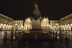 Sancarlo-Quadrat Turin Italien Lizenzfreie Stockfotografie