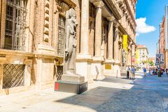 Turin, Italien, am 19. August 2017 Der Altbau des Ägypters Museu Lizenzfreies Stockfoto