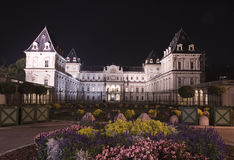 Valentino Castle nachts Lizenzfreies Stockfoto