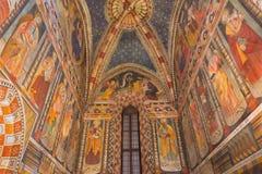 TURIN, ITALIEN - 14. MÄRZ 2017: Das Fresko in der Kirche Chiesa di San Domenico und in Kapella-delle Grazie Stockfotografie