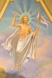 TURIN, ITALIEN - 13. MÄRZ 2017: Das Fresko von Resurrected Jesus in der Hauptapsis von Kirche Chiesa-Di Santo Tomaso Lizenzfreies Stockbild