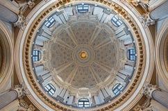 TURIN, ITALIEN - 14. MÄRZ 2017: Die Kuppel der Kirche Basilica di Superga durch Architekten Filippo Juvarra Stockbilder