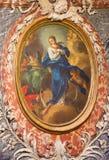 TURIN, ITALIEN - 14. MÄRZ 2017: Die Malerei der Unbefleckter Empfängnis in der Kirche Chiesa di San Francesco durch unbekannten K Lizenzfreies Stockbild