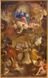 TURIN, ITALIEN - 16. MÄRZ 2017: Die Malerei von jungem Jesus als dem Pantokrator in Kirche Chiesa-Di San Massimo durch Giuseppe B Lizenzfreie Stockfotos
