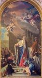 TURIN, ITALIEN - 14. MÄRZ 2017: Die Malerei von Sanit Louis IX von Frankreich in der Kirche Basilica di Suprega Stockfotografie