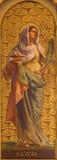 TURIN ITALIEN - MARS 13, 2017: Målningen av St Lucy i kyrkliga Chiesa di Santo Tomaso Arkivbilder
