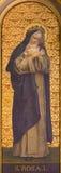 TURIN ITALIEN - MARS 13, 2017: Målningen av St Rosalia i kyrkliga Chiesa di Santo Tomaso av den okända konstnären från och av 19  Royaltyfri Foto