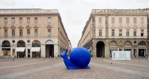 TURIN, ITALIEN, SEPTEMBER 24,2016: Die farbige Schnecke, Symbol von Te Lizenzfreie Stockfotografie