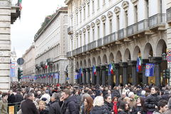 Italian street crowd Royalty Free Stock Photo