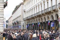 Italian street crowd Royalty Free Stock Photo