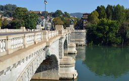 Turin, Italy - Bridge Umberto I. On the river Po Royalty Free Stock Images