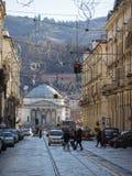 Via Po in Turin. TURIN, ITALY - CIRCA JANUARY 2018: View of Via Po central street Royalty Free Stock Photo