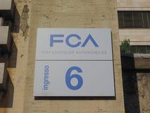 Fiat Mirafiori Chrysler Automobiles (FCA) car factory in Turin. TURIN, ITALY - CIRCA STEMBER 2018: Fiat Chrysler Automobiles (FCA) Mirafiori car factory for Fiat stock image