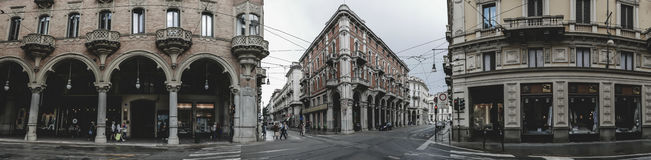 Turin Italy city panorama Royalty Free Stock Images