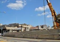 Turin, Italy A demolição da passagem superior de Corso Grosseto fotografia de stock royalty free