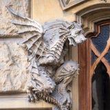 TURIN, ITALY - Dragon on Victory Palace facade royalty free stock photos