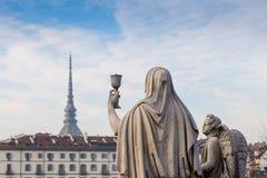 Turin, Italy - January 2016: Faith Statue Royalty Free Stock Photo
