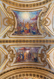 TURIN, ITALY - MARCH 14, 2017: The ceiling fresco of Eucharistic miracle by church Basilica del Corpus Christi by Luigi Vacca. 1778 - 1854 Stock Images