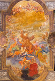 TURIN, ITALY - MARCH 15, 2017: The ceiling fresco Glory of St. Francis in church Chiesa di San Francesco da Paola. By unknown artist by Francesco Gautier 1858 Royalty Free Stock Photos